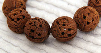 wild peach pit carving bracelets by master with 8 buddha and pine tree on each beads free shipping