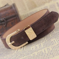 Genuine leather fashion 2014 women's waist of trousers belt female all-match pigskin strap decoration Women