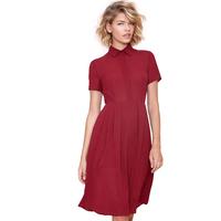 2014 new women chiffon dress turn- down collar  fashion high street Casaul Boyfriend style Shirt dress haoduoyi free shipping