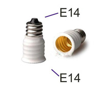 10pcs/Lot E14 to E14 Male to Female White Extension Extend LED Light Socket Changer Bulb Base Adapter Converter Lamp Holder