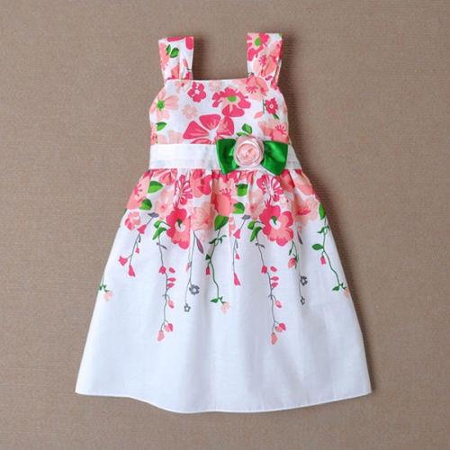 Free shipping 2015 Baby Girls Princess Sleeveless Braces Sundress Kids Summer One-piece Dress(China (Mainland))