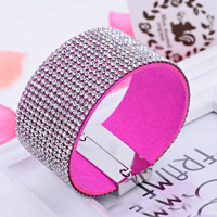 Mix Color Crystal Magnetic Buckle Fashion Rhinestone Bracelets for women