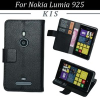 30pcs/lot Free Shipping Magnetic Flip Book Style 2 Card Slots Leather Case with Stand for Nokia Lumia 925