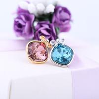 Stud earring ,guri elegant rhombus crystal bow belt stud earring ,bohemia birthday gift