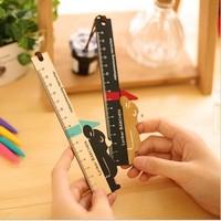 Free ship 1lot=20pcs/korean stationery kawaii Cute bear lace wooden ruler cartoon school supplies open school gift