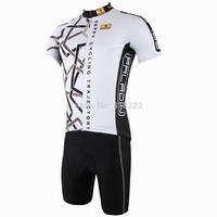 2014 New fashion Men's  Design Short Sleeve Cycling Jersey Shirt cycling clothing Bicycle-S M L XL 2XL 3XL-white black trace