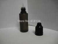 Wholesale  FREE shipping- 5000PCS black PE plastic 15 ml bottles with black child resistant caps.