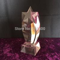 Fashion New design high quality stock crystal star award Crystal Rising Star Award Trophy