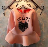 New 2014 baby girls flower dress children kids long-sleeved tutu dresses for autumn A133 top quality