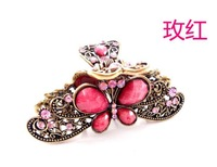 New Arrivals Crystal Antique Hair Clip Claw Small Orders Wholesale Fashion Hair Ornament Hairpin Accessories