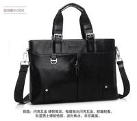 High quality Male casual leather men's handbag shoulder diagonal package Business briefcase computer bag