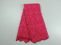 2014 hot seeling Pink chemical cord lace Water Soluble Lace Fabric,,guipure lace with stone with free shipping