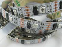 1M ws2801 led digital strip,32pcs IC ;32pcs 5050 SMD RGB No-Waterproof white