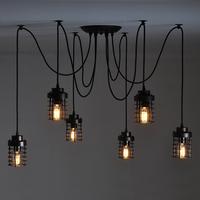 Nordic Industrial Edison Bulb Ceiling Lamp Retro Chandelier Pendant Vintage Lamps