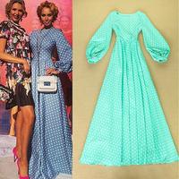 2014 new arrive runway dress floor length quality brand dress fashion dress