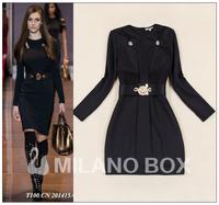 2014 runway dresses women high quality dresses brand dresses