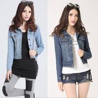 free shipping women Fashion cowboy clothing jean jacket women new short  jacket