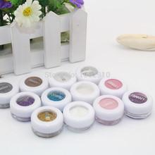 Wholes 6PCS women make-up eye shadow glitter 2014 new arrival 12 colors Glitter  make up eye shadow free shipping(China (Mainland))