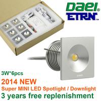 Daei ETRN Brand 2014 new 3W x 6pcs Square 18W MINI LED Spotlight LED Cabinet Light LED Recessed Light Free Shipping