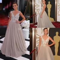 AJ-66 custom made appliques beads crystal sheer backscoop long evening dress vestidos party dresses vestido de festa 2014