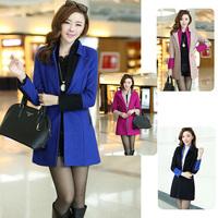 Real photo 5070 # 2014 new winter coat Korean Women Slim temperament OL high-grade woolen coat lady coat M,L,XL