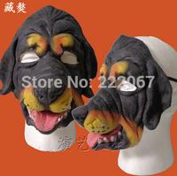 Free Shipping Tibetan mastiff dog Halloween show animal mask masked balls show men and women