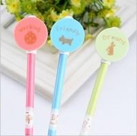 Free ship 20pcs/korean stationery kawaii New fresh long Cartoon licensing round animal Creative ball point pen lovely shape pen