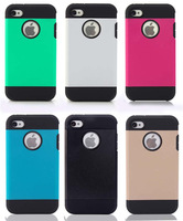 2014 New Glossy Frosted Case Dual Layer Hard Soft TPU Cover for iPhone 4 4S free Gift Good Quality Free shipping