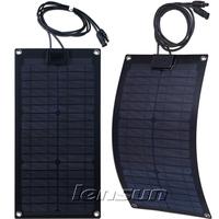 Fiberglass 20W 12V Monocrystal Semi-flexible Solar Panel, Wholesale,Factory Directly,UK STOCK!