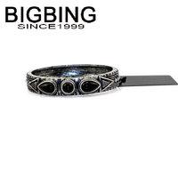 BigBing jewelry Fashion Retro pattern black Gemstone Bangle fashion jewelry good quality nickel free Free shipping! HA051