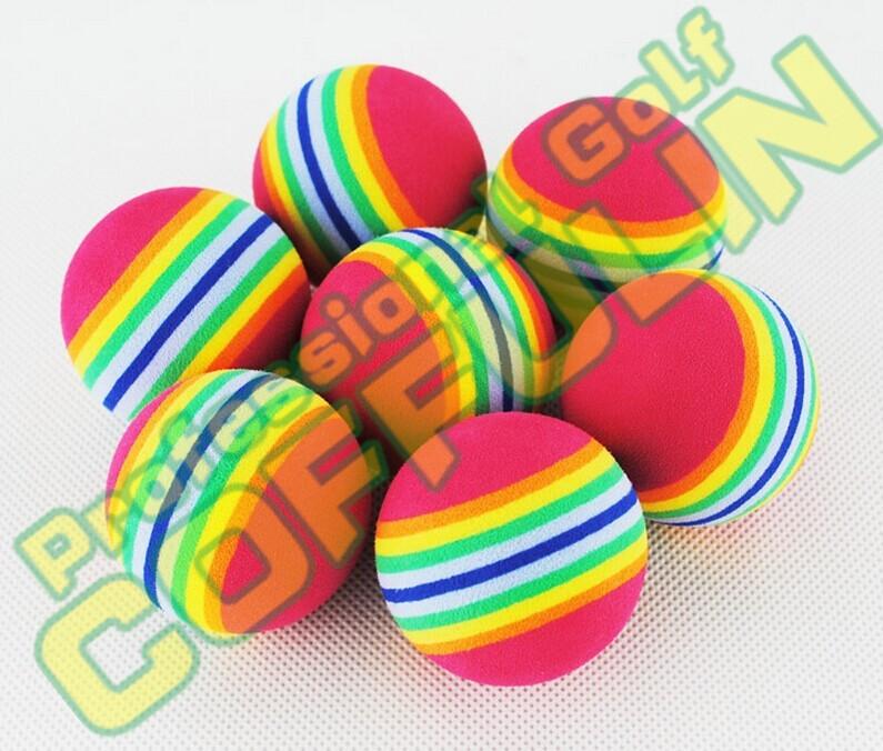 New EVA Rainbow Golf Balls Soft Sponge Elastic Balls Wholesale Free Ship(China (Mainland))