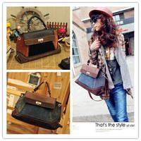 New Arrival 1Pcs EuropeStyle Women's Retro Denim Messenger bag Leather Handbag Fashion business women Designer totes AY840125