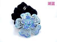 fancy flower ruffle elastic hair band,fashion floral hair hoop for bride,wedding
