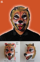 Free Shipping The Wolf Mid-Autumn festival performances of latex masks animal mask masked balls show men and women