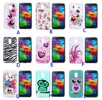 5 pcs/Lot-Flag/Flower/Owl Soft TPU Cover Case for Samsung Galaxy S5 Mini G870a SM-G870a SM-G800 S5