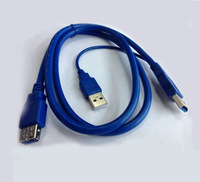 1 M  Super-speed USB 3.0 splitter Y y-cable USB 3.0 Male + USB 2.0 Male To USB 3.0 Female