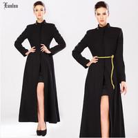 Lanluu 2014 Fashion Winter Coat ! Europe and America Style Stand Collar Slim Brief Elegant Women Woolen Coat SQ842