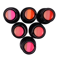Three-color gradient lipstick  6colors for choices 6pcs a dozen mixed color Free Shipping
