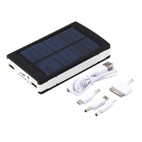 New 30000mAh Dual USB Solar Panel Power Bank External Battery Charger for iPhone for HTC  Promotion