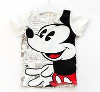 4pcs/lot New 2014 baby boys fashion hot Mickey Batman cute casual handsome T-shirt children kids summer clothes C022