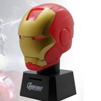 2014 Innovation home decorations Plastics multifunction Mini Iron Man Night light+piggy bank+intelligent voice to imitate gift