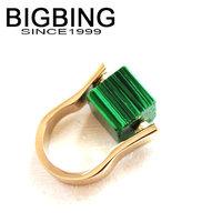 Bigbing jewelry fashion Green crystal ring top metal ring wedding ring nickel free Free shipping! G328