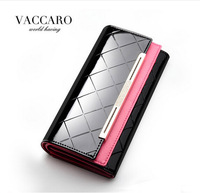 Europe and America Style Diamond Check Women's Wallet Genuine Leather Long Wallet For Women Fashion Female Long Wallets/Purse
