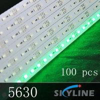 wholesale 1m long green color SMD 5630 led rigid strip light ,72 leds DC12v support ,100 pcs free shipping