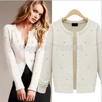 Hot sale 2014 Autumn Spring Winter Female Cardigan Sweater Outwear Long Sleeve Casual Solid Knitwear Eegant  Women's SweaterTops