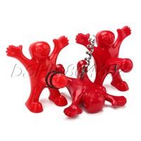 Red 1 Kit Happy Man Funny Bottle Opener &Bottle Corkscrew&Bottle Stopper
