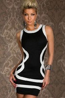 Sexy women dress  supply Europe and the stripe package hip  sexy underwear summer dress