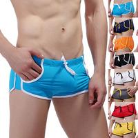 Underwear 2014 male swimming colorful pocket boxer fashion swimwear freeshipping 3 pieces/lot swimtrunk brand  WJ7350