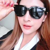 2014 Korean version of the retro -reflective sunglasses transparent licensing v Ito thousand Chung Min Jeon Ji Hyun Joon same pa