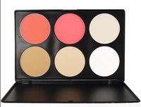Professional 6 Colors Contour Blusher Face Powder Palette Contouring Set Makeup cosmetic Blush Palette Free Dispatch